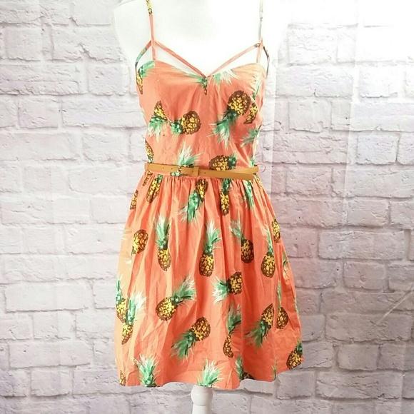 9add34f128 Charlotte russe women s Dress Sundress Pineapple